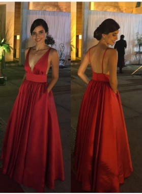 Charming A-Line/Princess Red Sweetheart Satin 2019 Prom Dresses