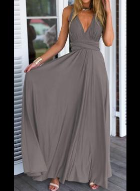 Cheap Chiffon A-Line/Princess Silver 2019 Prom Dresses