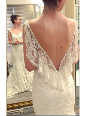 Sexy Backless Lace Sheath Sweetheart Wedding Dresses 2021