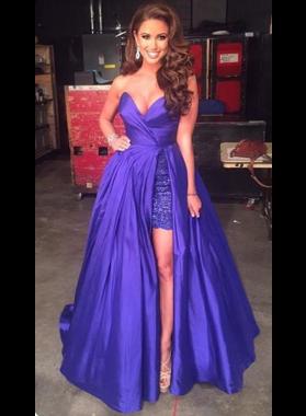 Charming A-Line/Princess Sweetheart Purple 2019 Prom Dresses