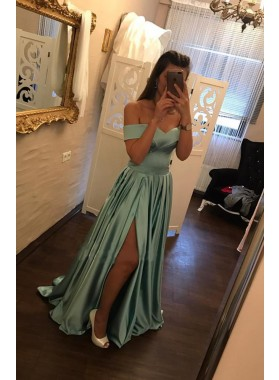 Cheap A-Line/Princess Off The Shoulder 2020 Sweetheart Prom Dresses