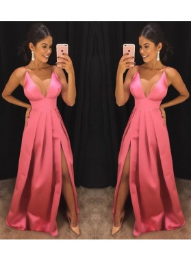 Cheap A-Line/Princess Sweetheart Satin 2019 Prom Dresses