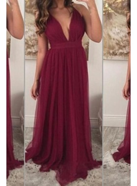 2019 Cheap Chiffon Princess/A-Line Burgundy Sweetheart Prom Dresses