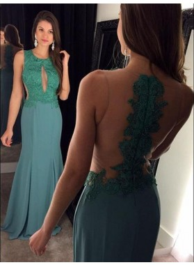 Mermaid/Trumpet Satin Prom Dresses With Appliques