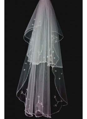 Quite Gorgeous Wedding Veil With Embroidery