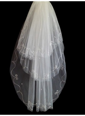 Quite Great Wedding Veil With Embroidery