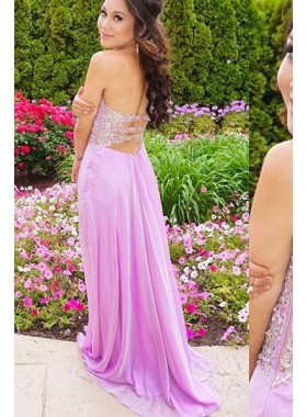 Prom Dresses Sweetheart Appliques Backless
