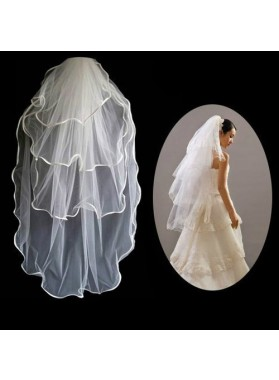 Simple 3 Layers Wedding Veil