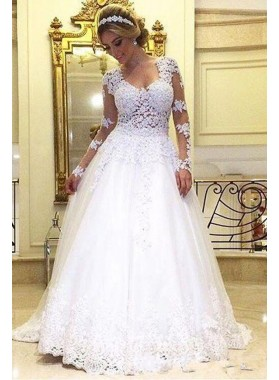 Best Selling A Line Sweetheart Long Sleeves 2021 Wedding Dresses