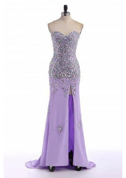 466bbc39b827 Cheap Prom Dresses Floor-Length/Long Mermaid/Trumpet Sweetheart Sequined  Beading