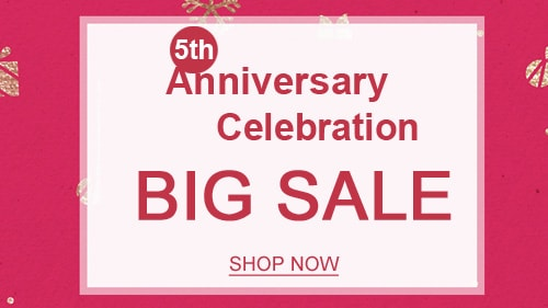 5th Anniversary Celebration Big Sale
